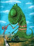 Chameleon on Bicycle