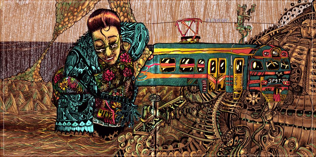 Train Autumn by Ace0fredspades