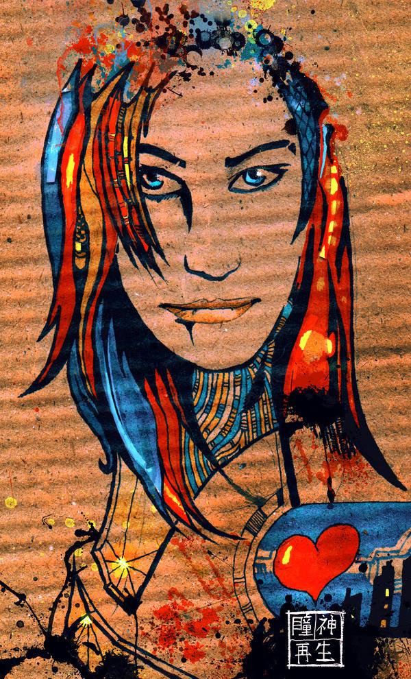 Cardboard Portrait by Ace0fredspades