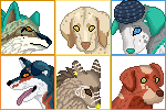 Ausieotterpie Icon Batch Commission by DragonsPixels