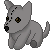 FREE Grey Wolf Plushie Icon by DragonsPixels