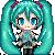 FREE Miku Hatsune Icon by DragonsPixels