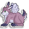 Bunny Pixel Sticker Commission by DragonsPixels