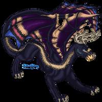 Voltenegris Pixel Doll Commission by DragonsPixels