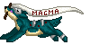 Magma Pixel Banner Commission by DragonsPixels