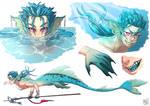 Merlancer character design