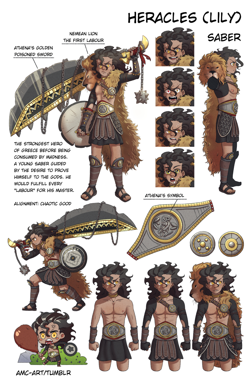 Lily Saber Heracles Character Design Page By Enghurrd On Deviantart