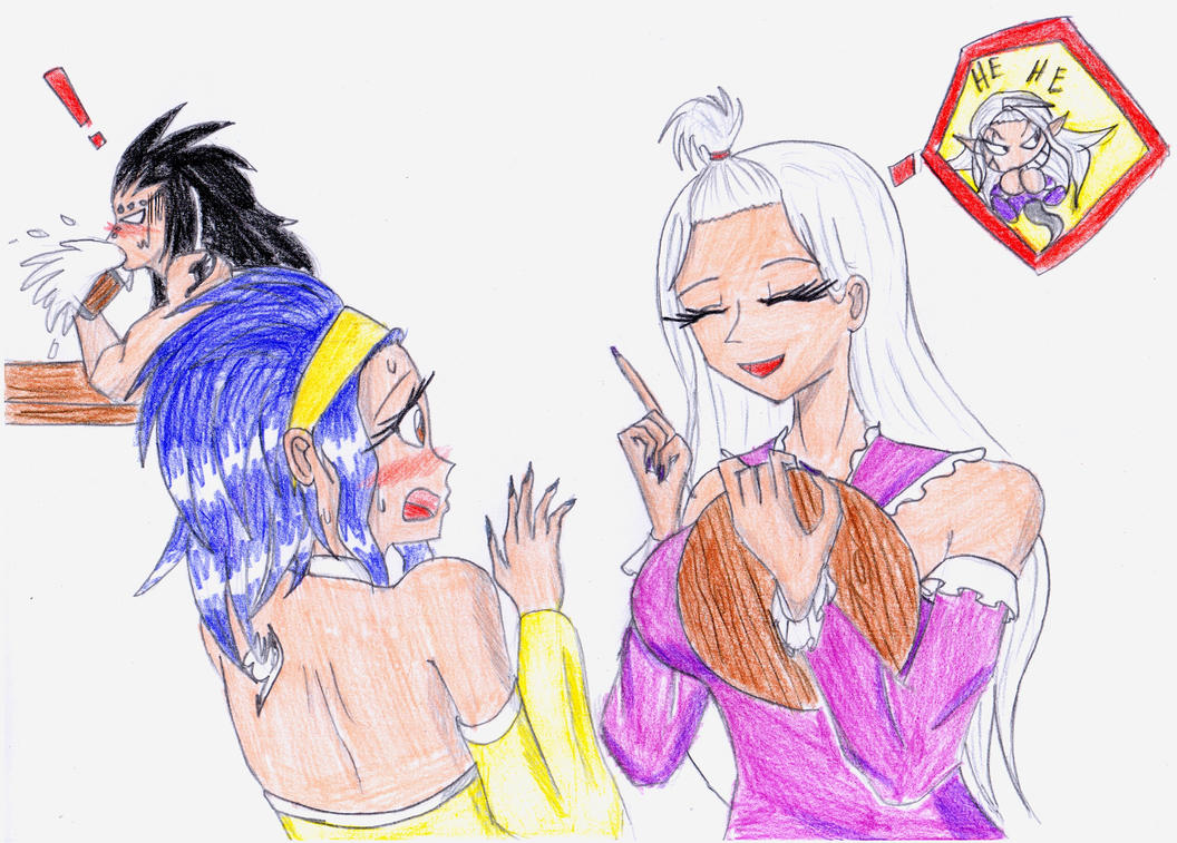 Gajeel, Levy and Mirajane by Animator9000