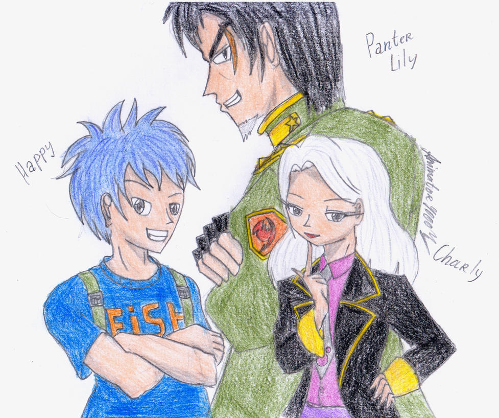 Humanisation Happy Charlie and PanterLily by Animator9000