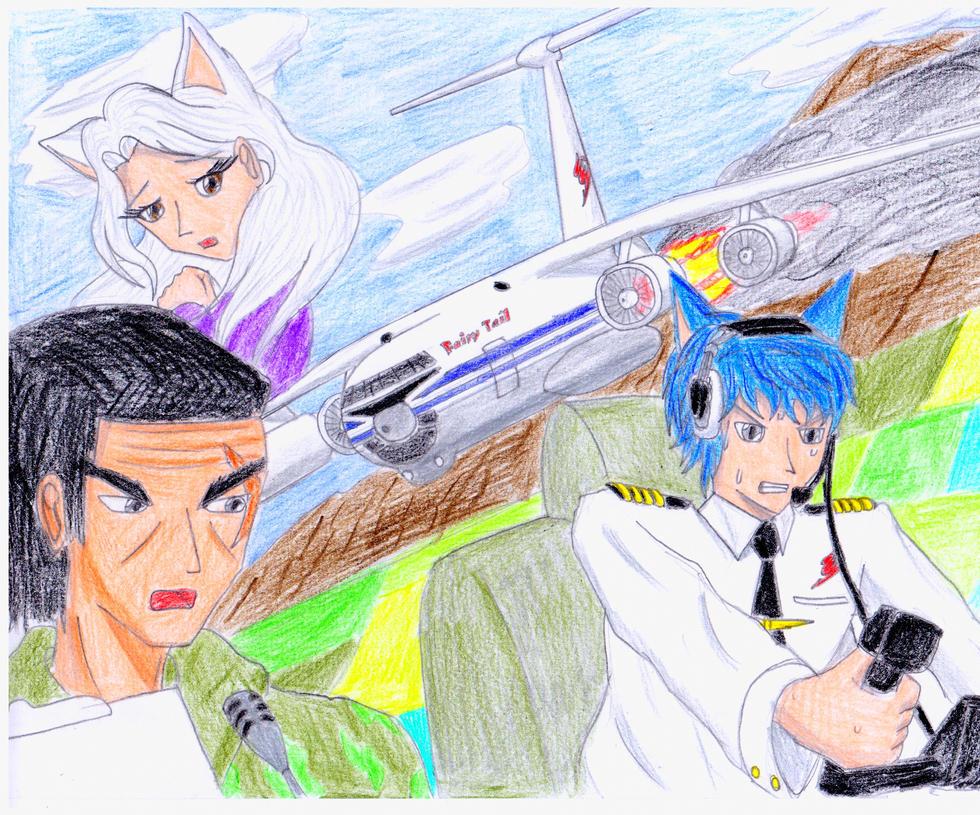 Fairy Tail's hard landing by Animator9000