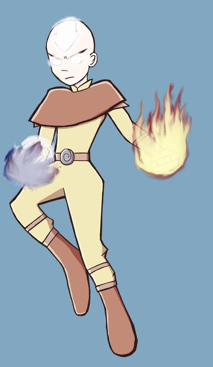 Avatar: The Last Airbender - Avatar Aang by JaredHedgehog