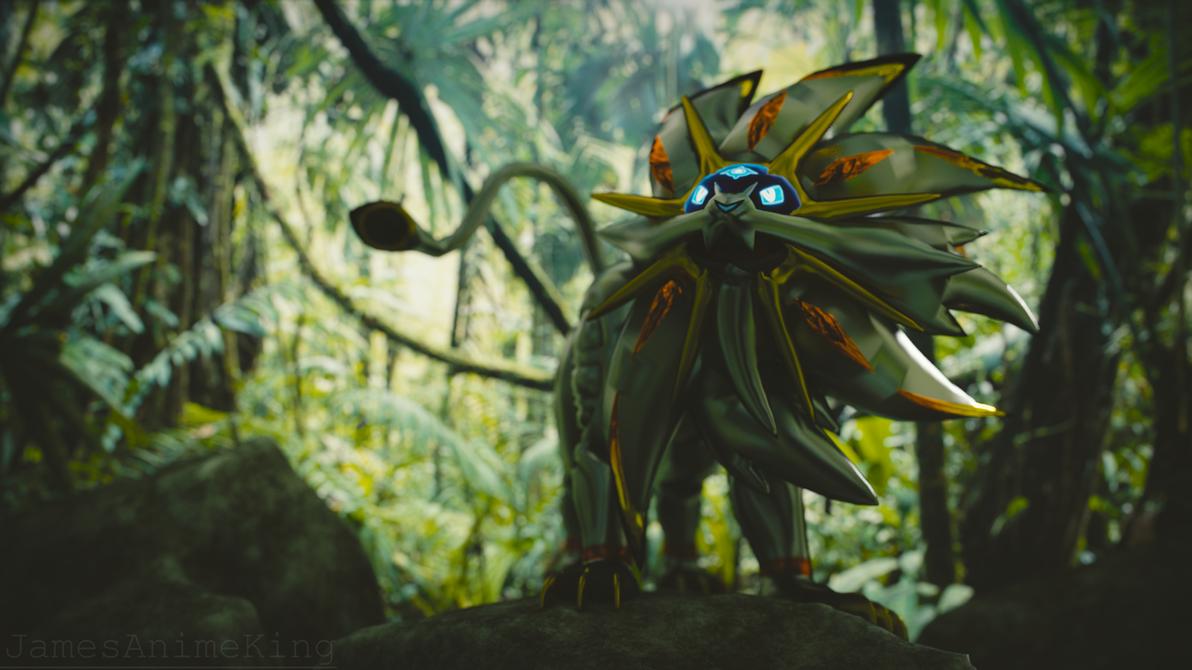 Pokemon Sun and Moon: Solgaleo Wallpaper Render by jamesanimeking
