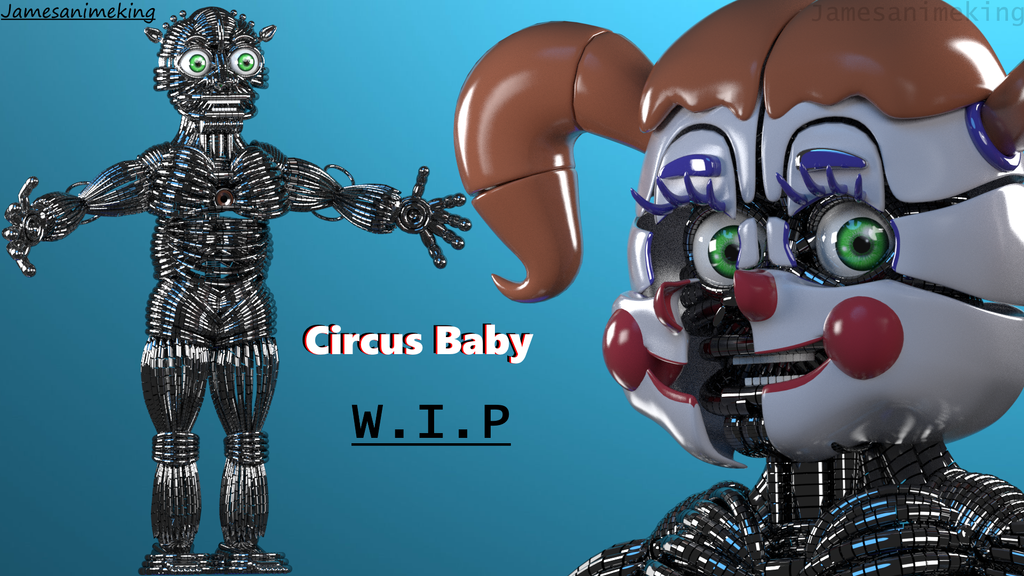 Sister Location: Circus Baby w.i.p by jamesanimeking
