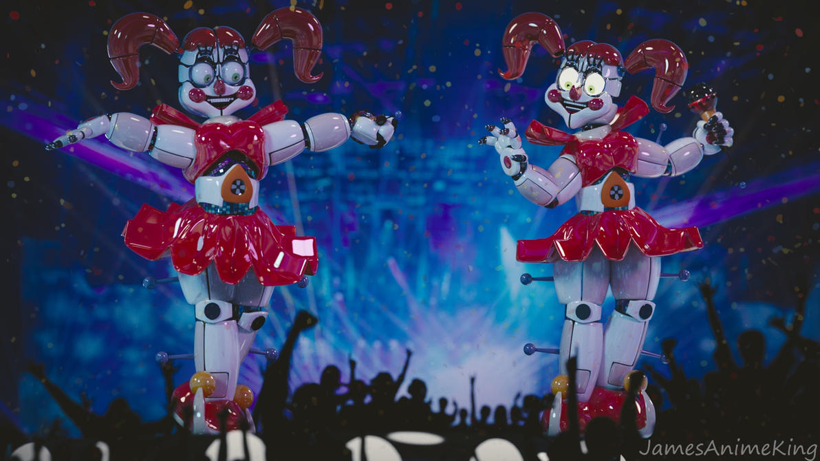 Sister Location: Stylised Circus Baby by jamesanimeking