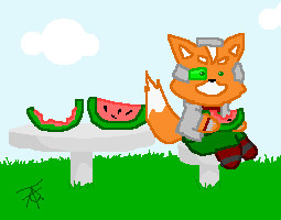 Fox McCloud on a Summer Day by Wingza