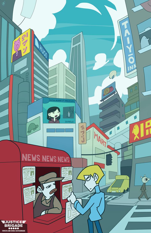 Justice Brigade: World City by Wingza