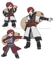Gaara x 3 for D- by TwinEnigma
