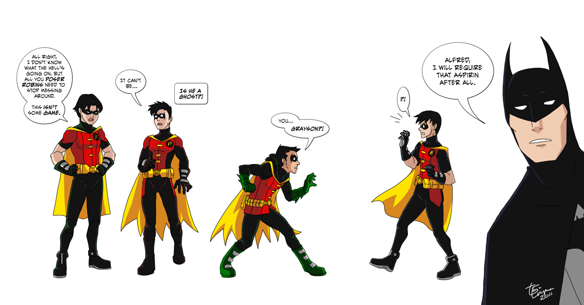 Robin[Tim Drake, Dick Grayson, - My Friend Dick Images