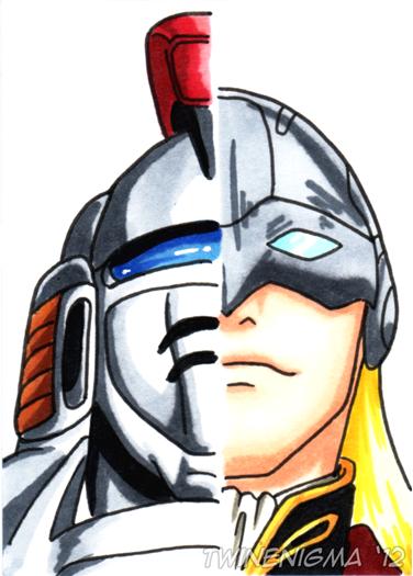 Gundam Wing Art Card 06 by TwinEnigma