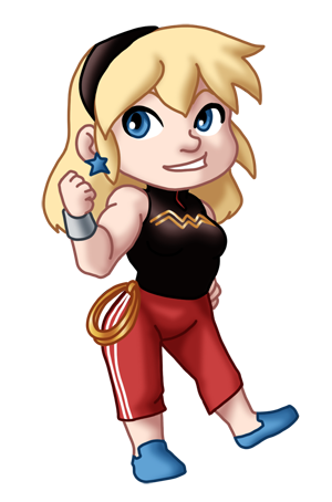 Chibi YJ Wonder Girl by TwinEnigma