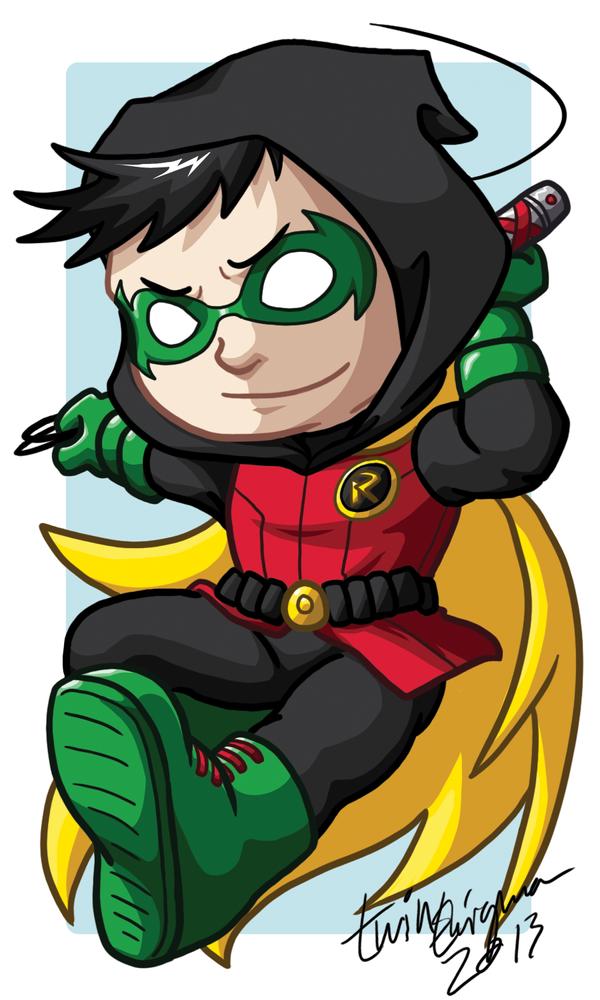 Chibi Damian Wayne Badge by TwinEnigma