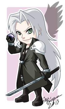 Chibi Sephiroth Badge