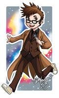 Chibi Tenth Doctor Badge