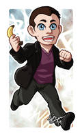 Chibi Ninth Doctor Badge