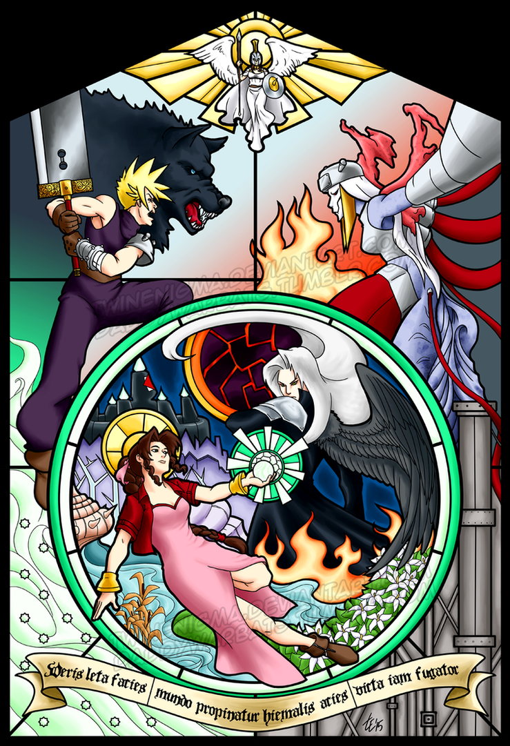 FFVII - the turning of the wheel by TwinEnigma
