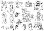 DR In Memoriam Sketch Dump 1