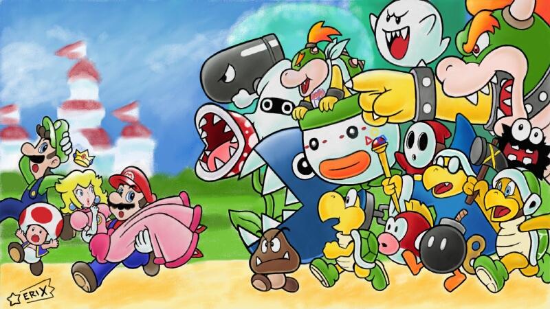 Super Mario Bros. by SuperEriX