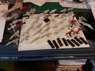 Crimson Dragoon's Armada W.I.P. by Fobhopper