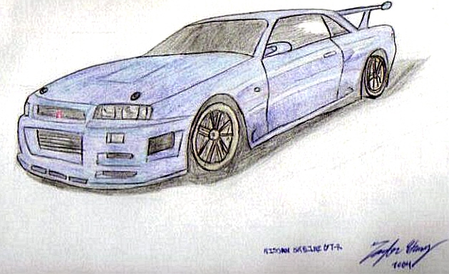 Nissan Skyline Sketch Nissan Skyline Sketch by