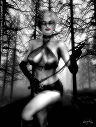 Tzina forest nymphe red lips deviant by Amazon3DArt
