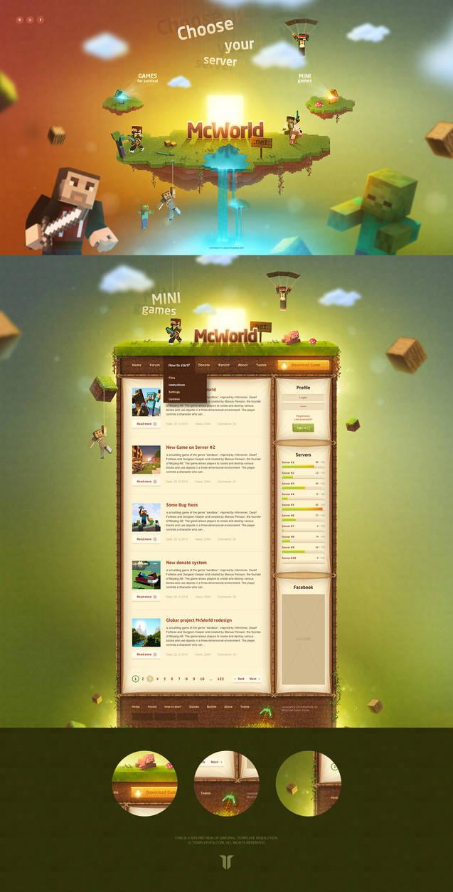 Minecraft McWorld Website Template by Templstock on DeviantArt