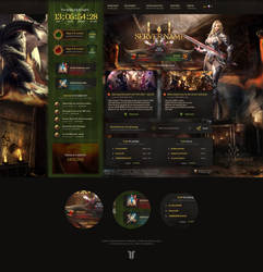 Lineage 2 Honor Website PSD Template