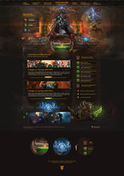 World of Warcraft Best Website PSD Template