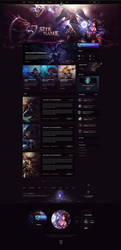 League of Legends Legacy Website Template
