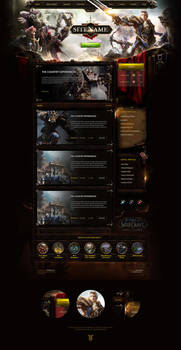 WoW Battle of Azeroth Website Template