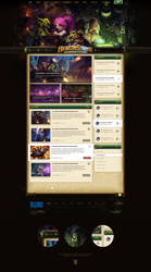Hearthstone Website PSD Template
