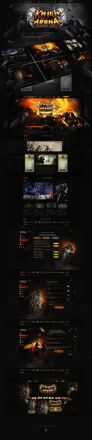 L2 Knight Arena Website PSD Template
