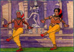 Sembiyan Mahadevi and Kundavai Pirattiyar by Eldr-Fire