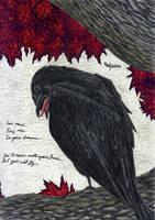 The three-eyed raven by ThreeHornsOne