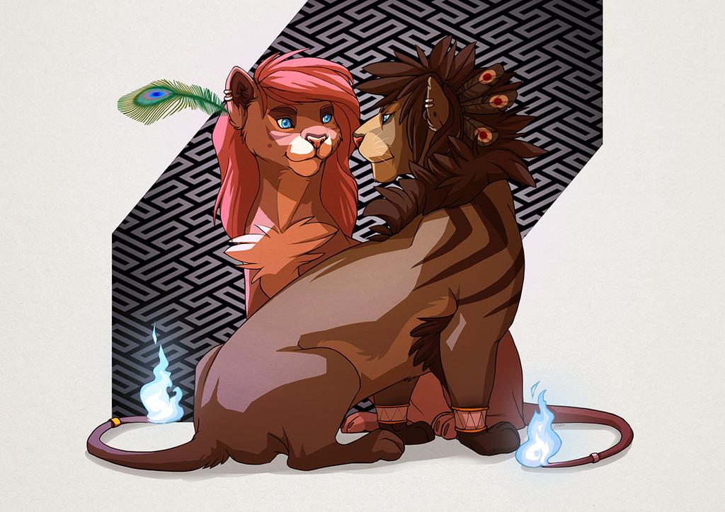 Zed and Andraya by Nizira-Hathor
