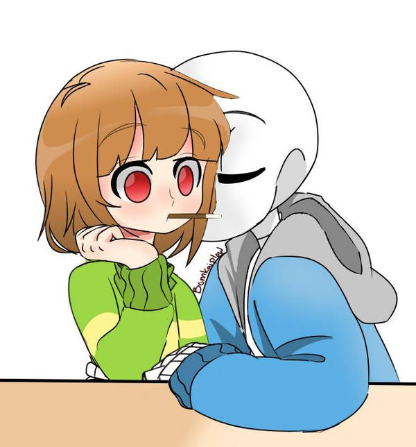 chara x sans by Bomkaiplow