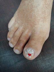 valentine's toe by TreborNehoc