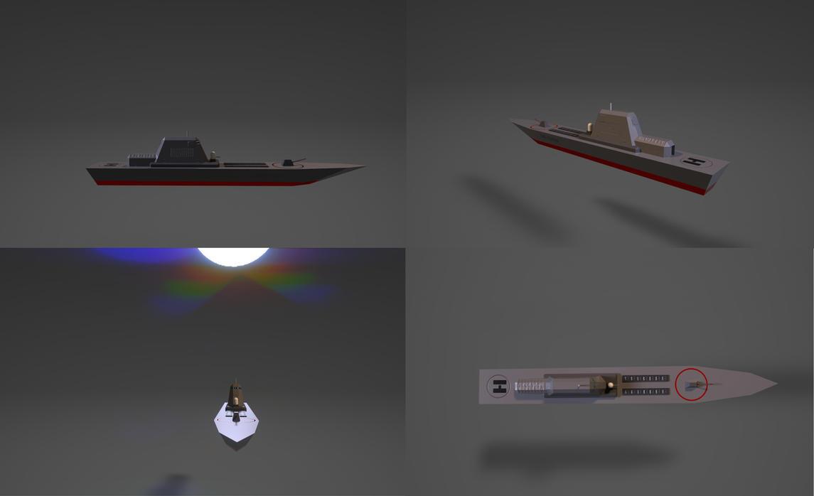 Destroyer Model by planetrix15