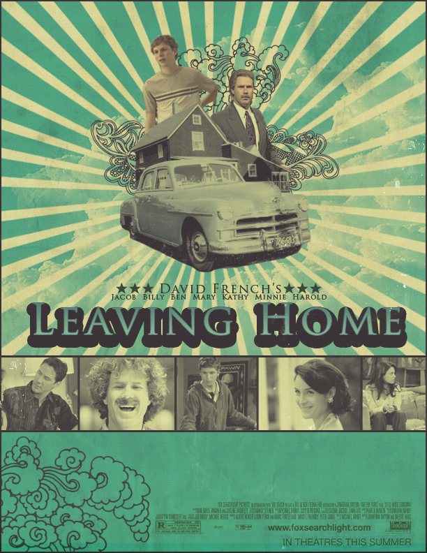 leaving home by david french In the book leaving home by: david french explain how the author illustrates bens growth towards this kind of independancy [ moving out ].