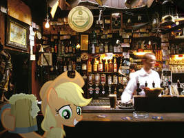 Applejack at the Pub by HAchaosagent