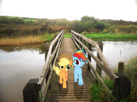 Dash and AJ Race Off Again by HAchaosagent